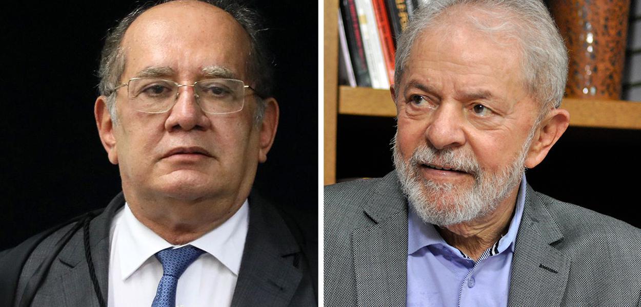 Gilmar Mendes e o ex-presidente Lula