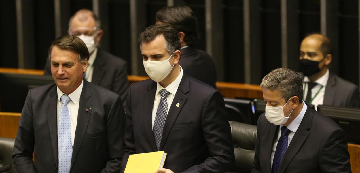 Jair Bolsonaro, Rodrigo Pacheco e Arthur Lira