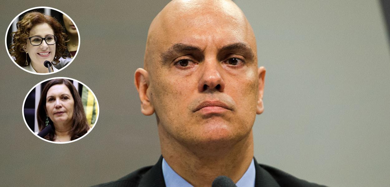 Carla Zambelli, Bia Kicis e Alexandre de Moraes
