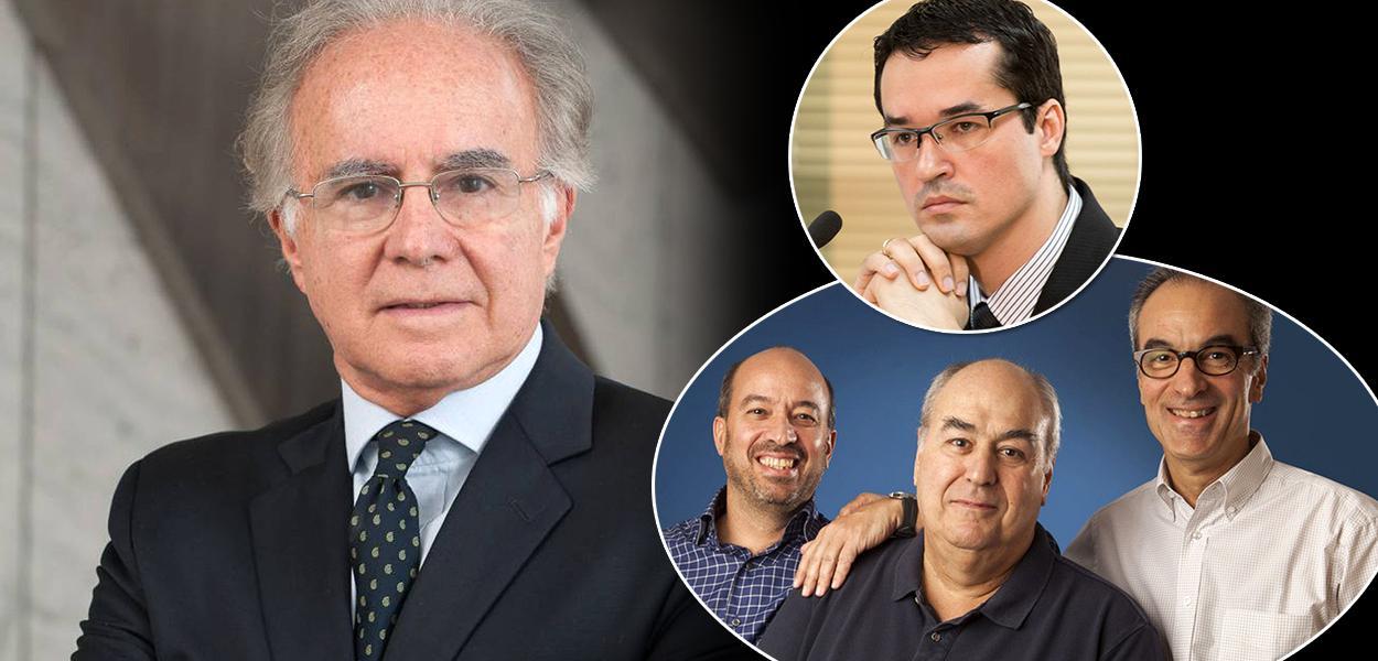 Professor Joaquim Falcão, Deltan Dallagnol e a família Marinho
