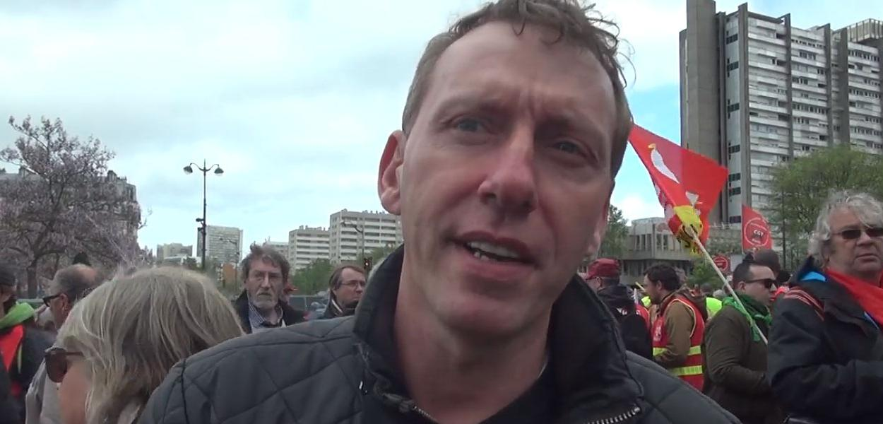 Sindicalista francês Cédric Quintin