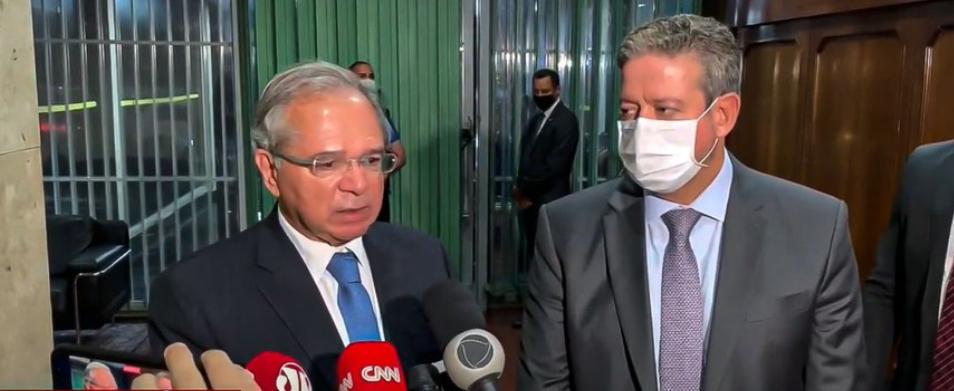 Paulo Guedes e Arthur Lira