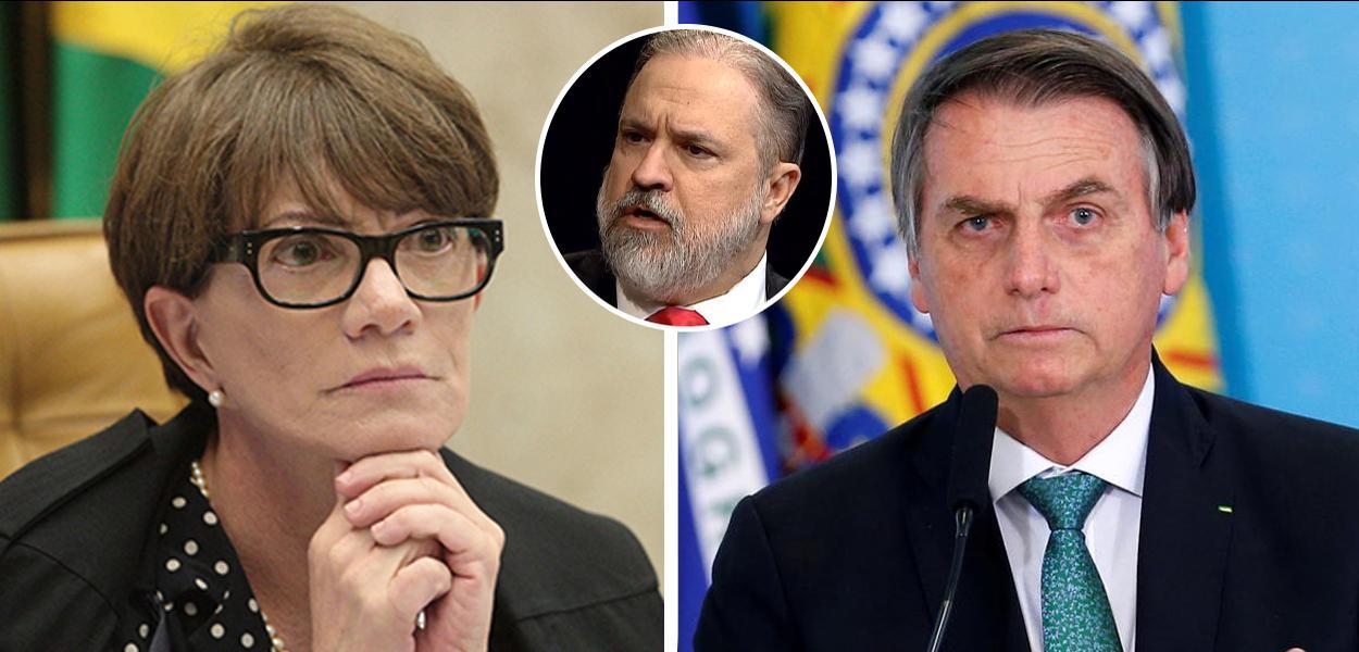 Déborah Duprat, Augusto Aras e Jair Bolsonaro