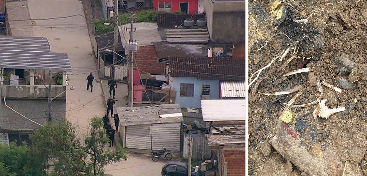 Ossada encontrada em cemitério clandestino no Rio será periciada