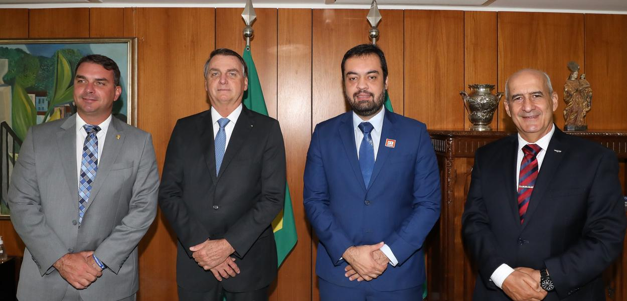 Flávio Bolsonaro, Jair Bolsonaro, Cláudio Castro, Luiz Eduardo Ramos