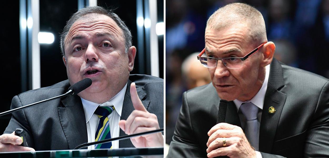 Eduardo Pazuello e senador Fabiano Contarato