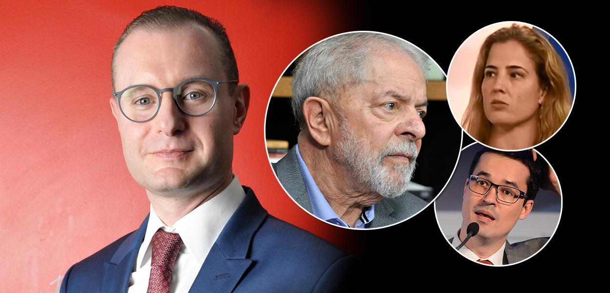 Advogado Cristiano Zanin Martins, ex-presidente Lula, juíza Gabriela Hardt e o procurador Deltan Dallagnol