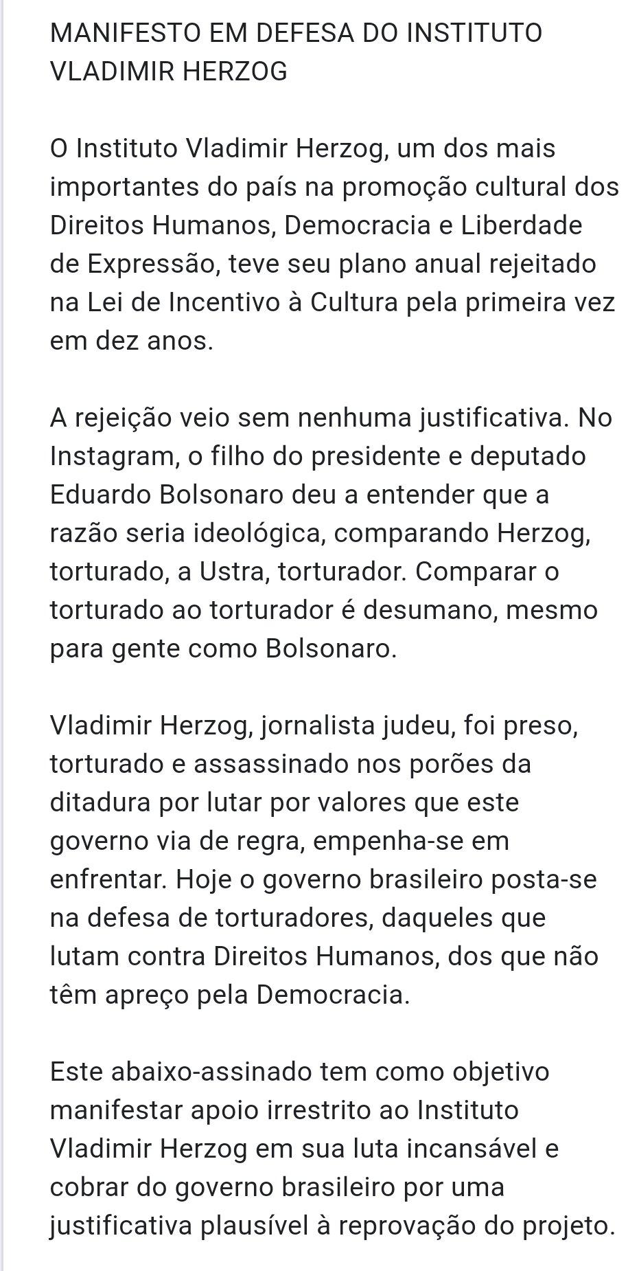Manifesto Vladimir Herzog