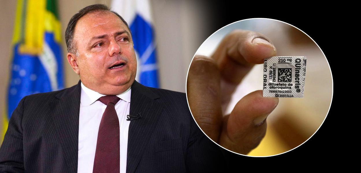 Ministro Eduardo Pazuello e a cloroquina