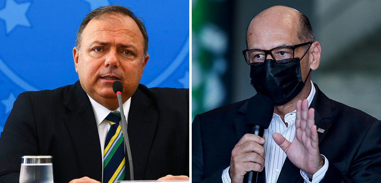Eduardo Pazuello e Dimas Covas