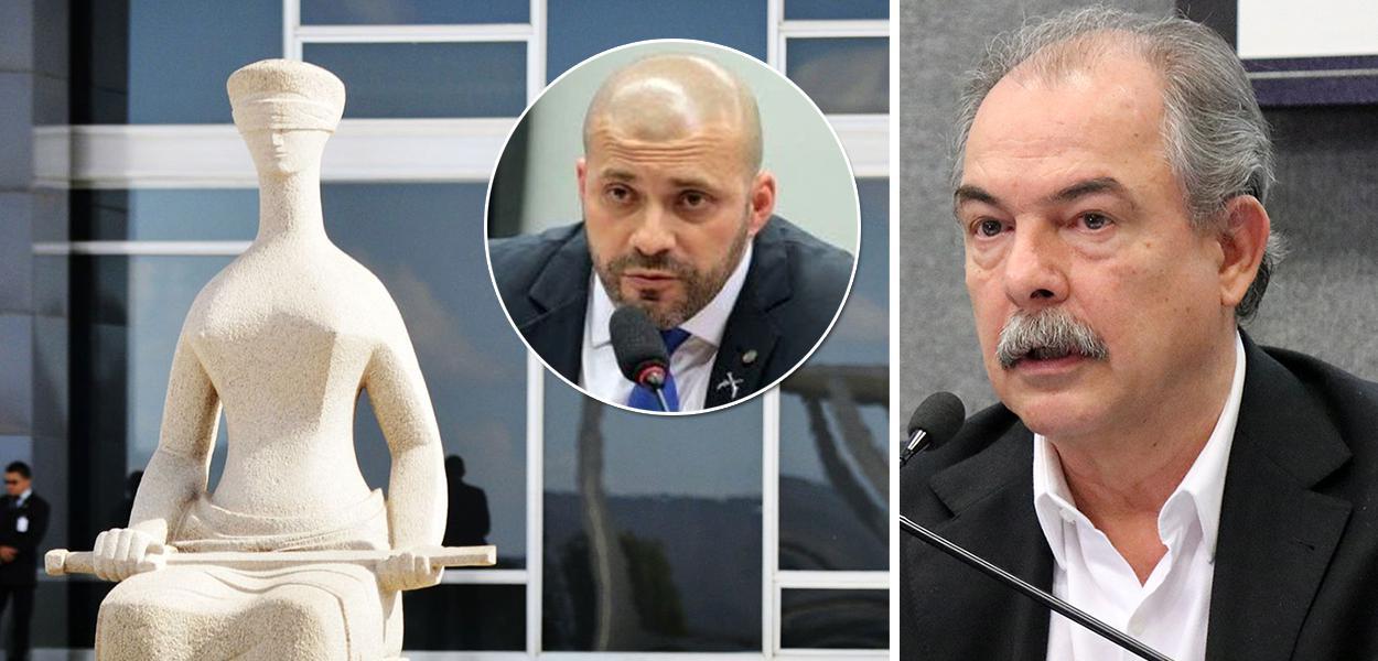 Deputado Daniel Silveira e o ex-ministro Aloizio Mercadante