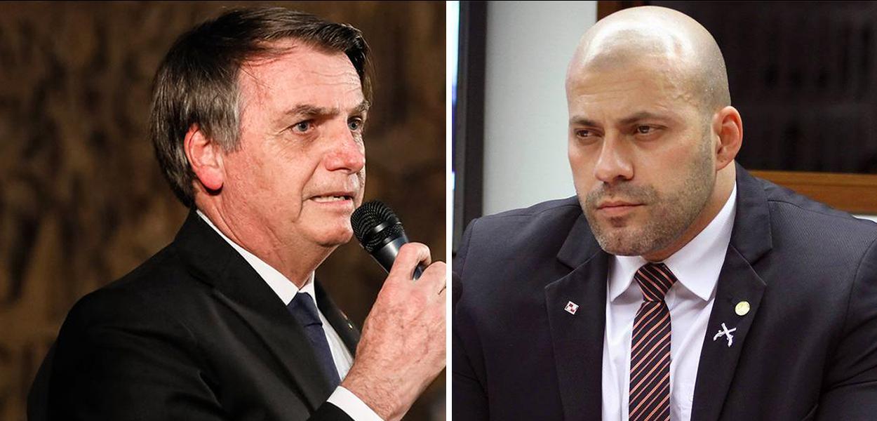 Jair Bolsonaro e Daniel Silveira