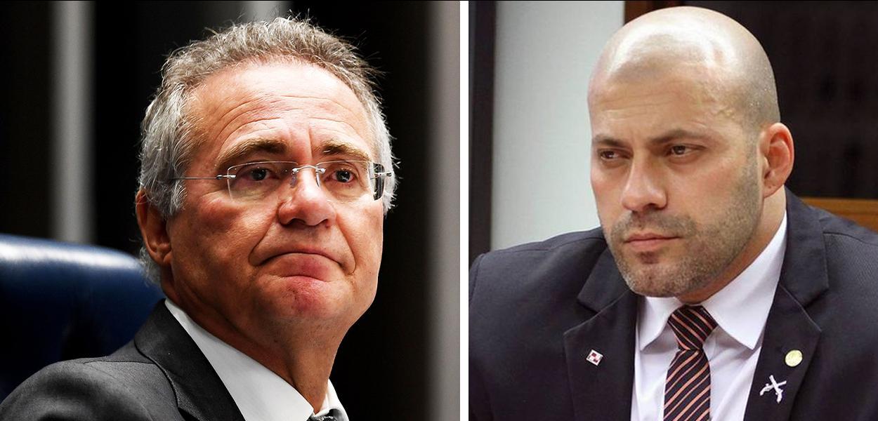 Renan Calheiros e Daniel Silveira