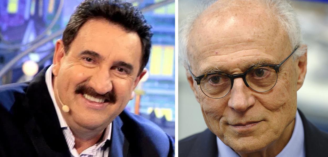 Carlos Massa, o Ratinho, e Eduardo Suplicy