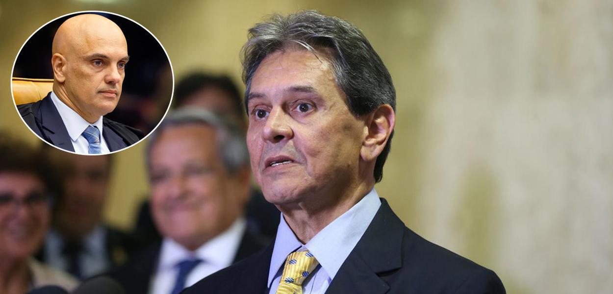 Alexandre de Moraes e Roberto Jefferson