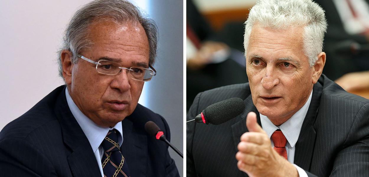 Paulo Guedes e Rogério Correia
