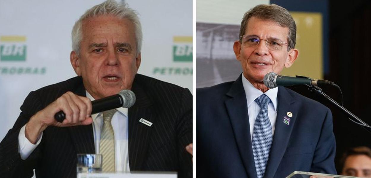 Roberto Castello Branco e Joaquim Silva e Luna