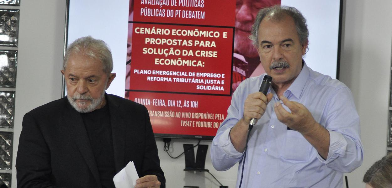 Lula e Aloizio Mercadante
