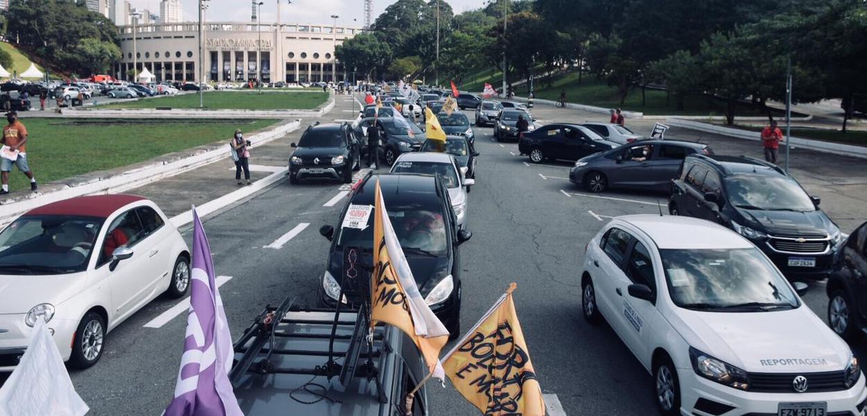 Carreata em São Paulo pelo Fora Bolsonaro