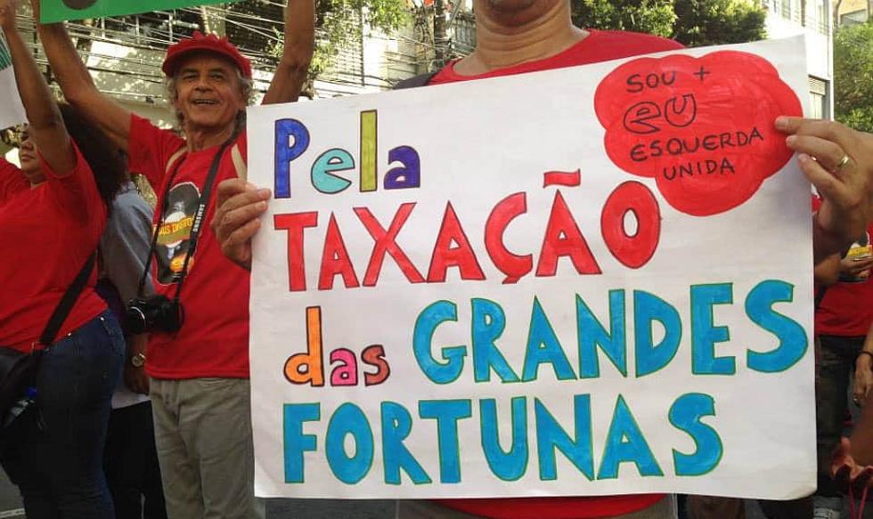 Manifestação pela taxação das grandes fortunas