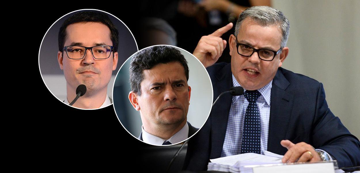 Deltan Dallagnol, Sérgio Moro e advogado Antônio Figueiredo Basto