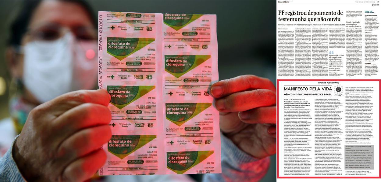 Cloroquina e o informe publicitário publicado na Folha de S.Paulo