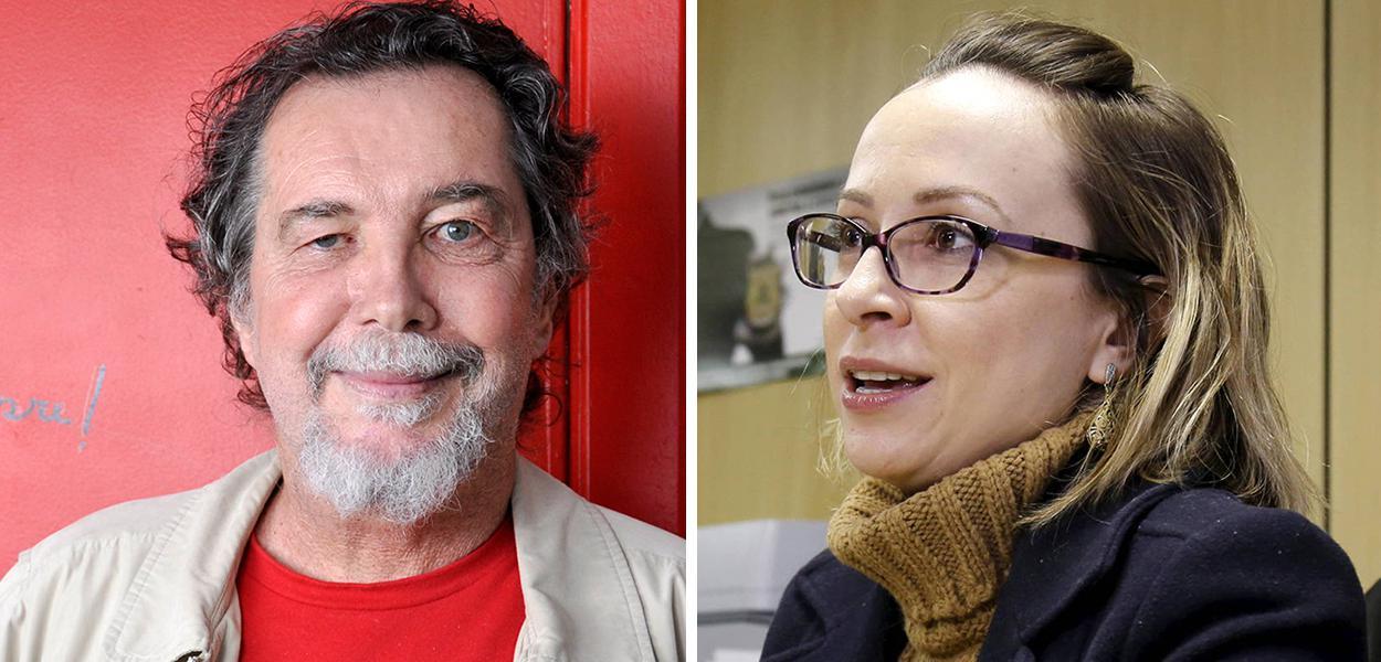 Acioli Cancellier de Olivo e a delegada Erika Marena