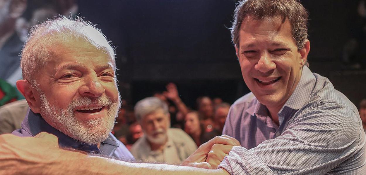 Ex-presidente Lula e Fernando Haddad