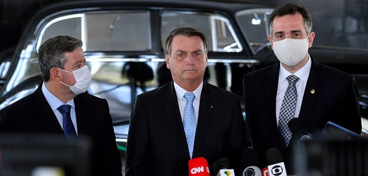 Arthur Lira, Jair Bolsonaro e Rodrigo Pacheco