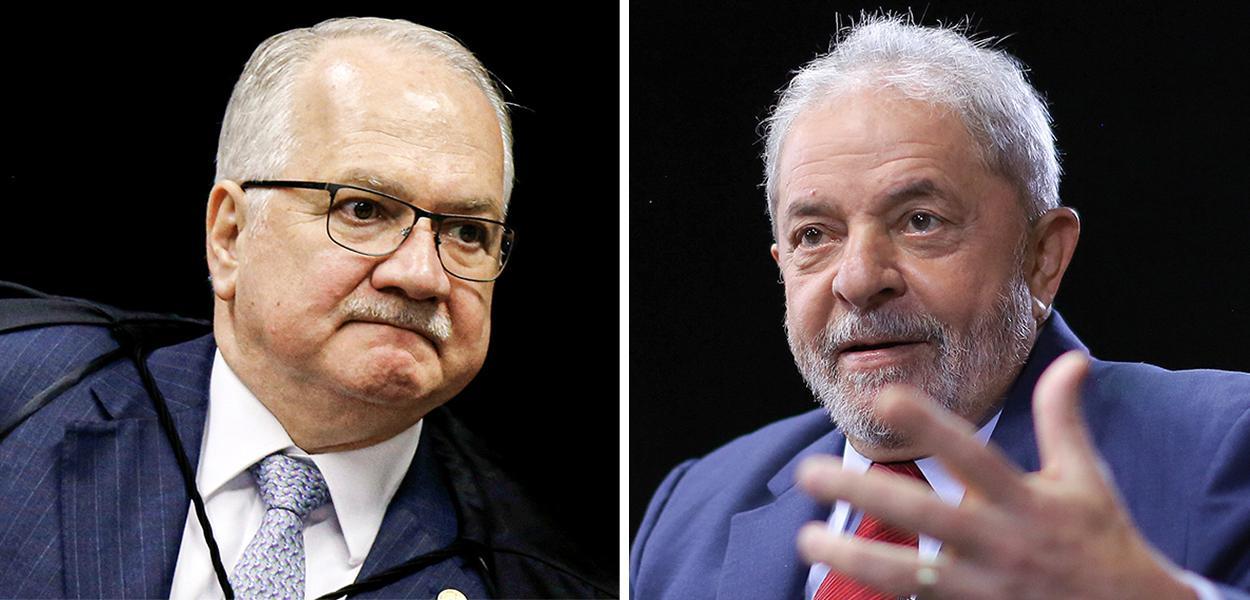 Edson Fachin e o ex-presidente Lula