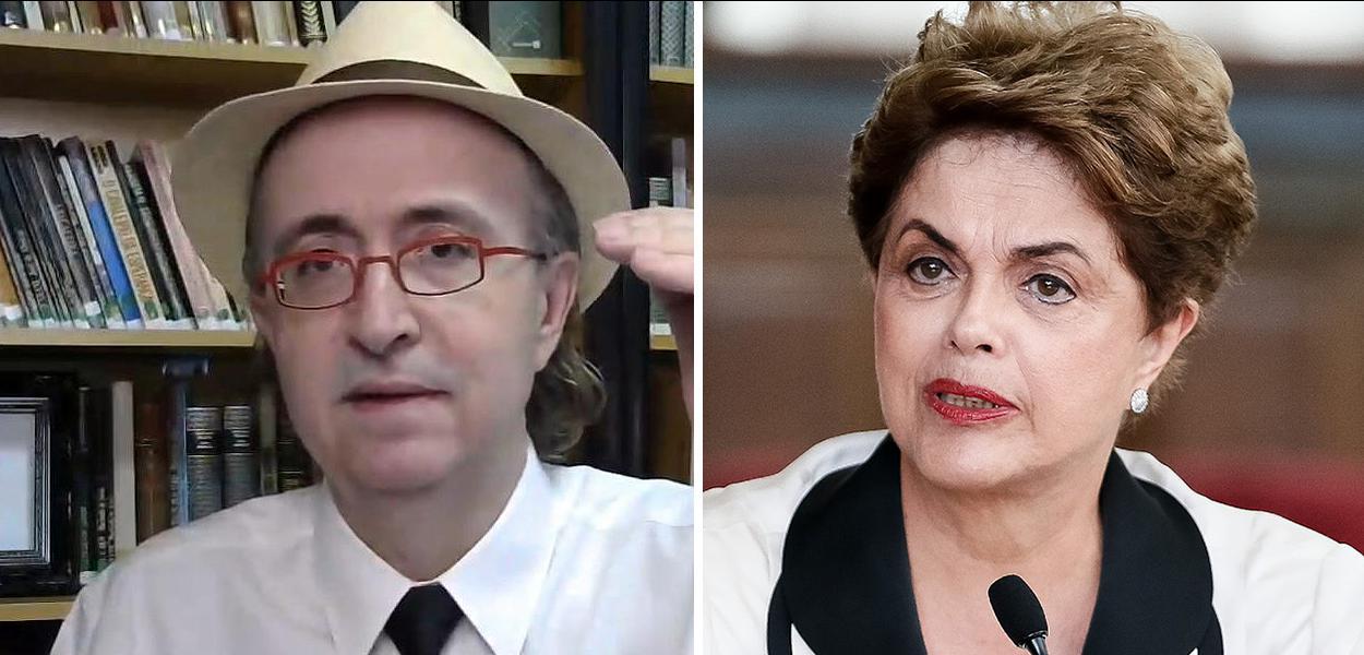Reinaldo Azevedo e Dilma Rousseff