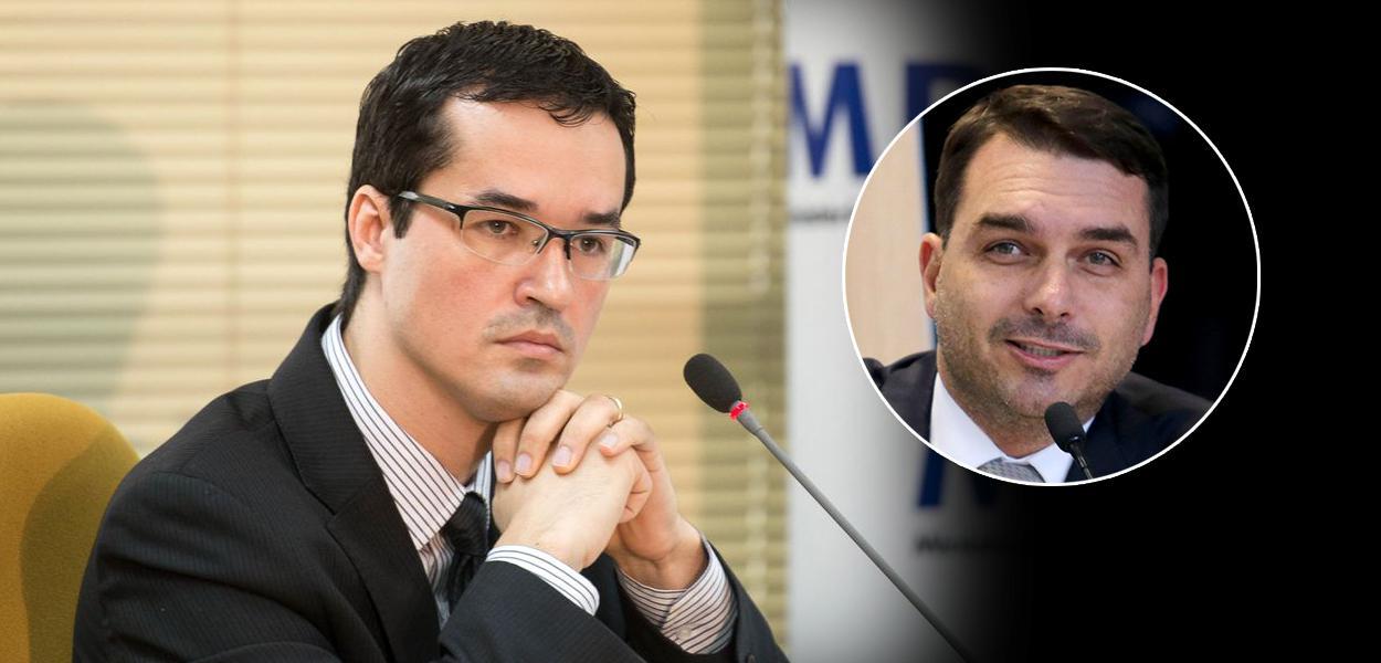 Dallagnol e Flávio Bolsonaro