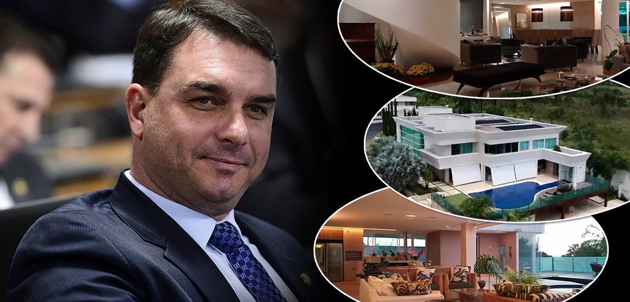 Flávio Bolsonaro | mansão de R$ 6 milhões em Brasília