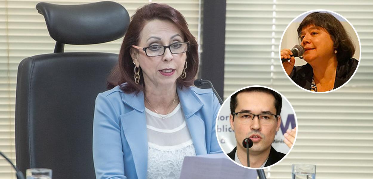 A corregedora Elizeta Maria de Paiva Ramos, Dallagnol e Luiza Frischeisen