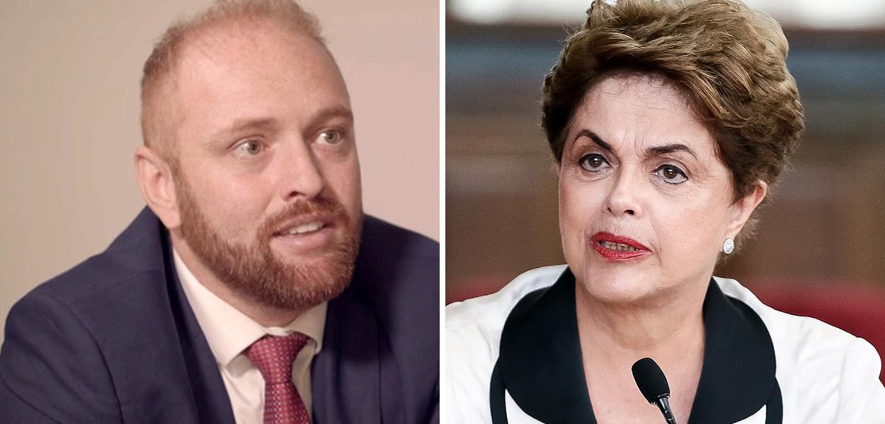 Walter Delgatti Neto e Dilma Rousseff