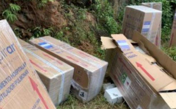 Os respiradores estavam abandonados na zona rural de Ferraz de Vasconcelos, na Grande São Paulo