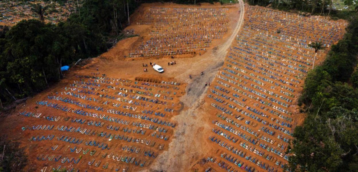 Manaus AM 30 12 2020-Cemitério público de Manaus, Nossa Senhora Aparecida, localizado no bairro Tarumã