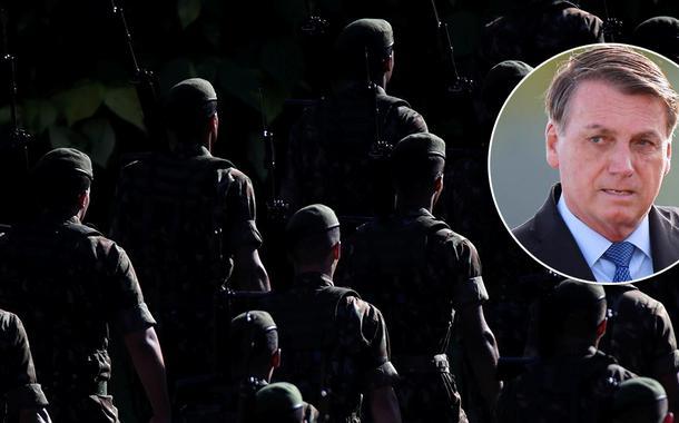 Bolsonaro e tropa do Exército