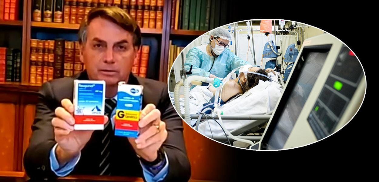 """Bolsonaro e seu """"kit covid"""""""