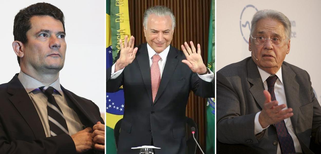 Moro, Temer e FHC (foto: Agência Brasil)