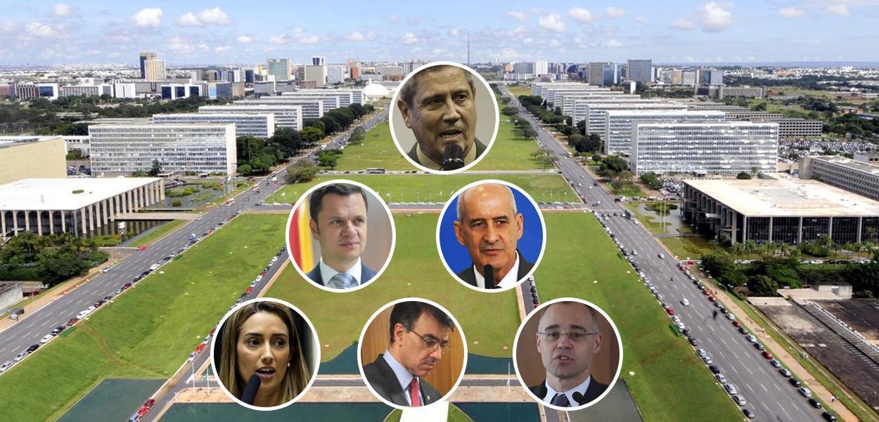 Braga Netto, Anderson Torres, Luiz Eduardo Ramos, Flávia Arruda, Carlos Alberto Franco França e André Mendonça