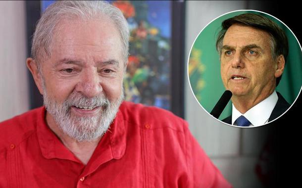 Ex-presidente Luiz Inácio Lula da Silva e Jair Bolsonaro