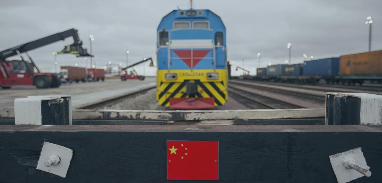 Trem do corredor ferroviário Chongqing-Duisburg