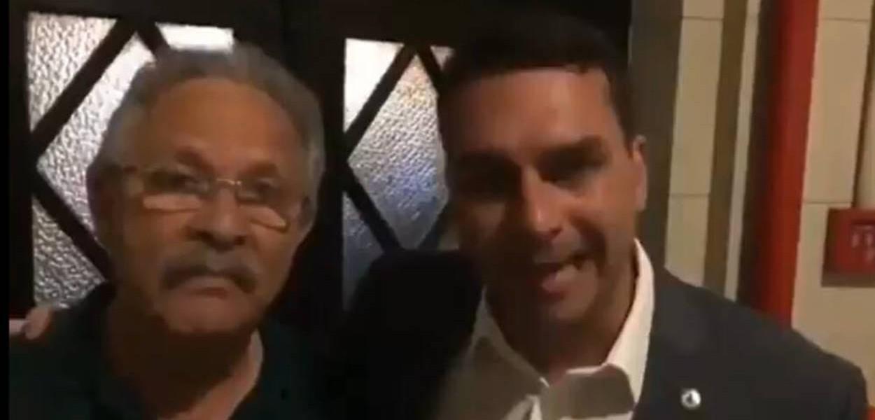 Coronel Jairo e Flávio Bolsonaro
