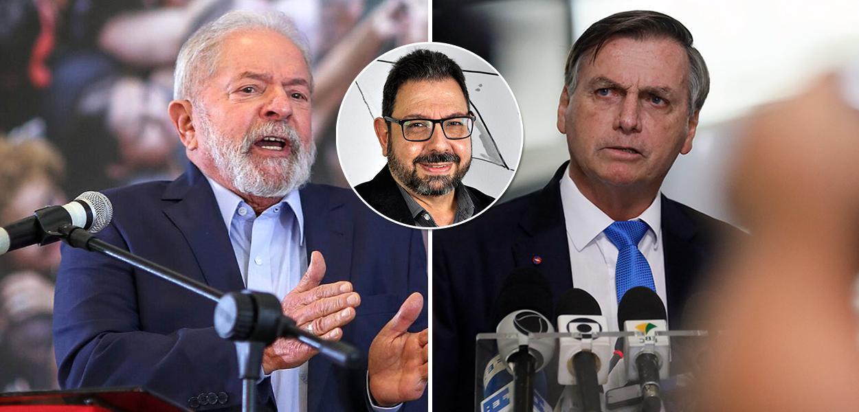 Lula, Eduardo Guimarães e Jair Bolsonaro