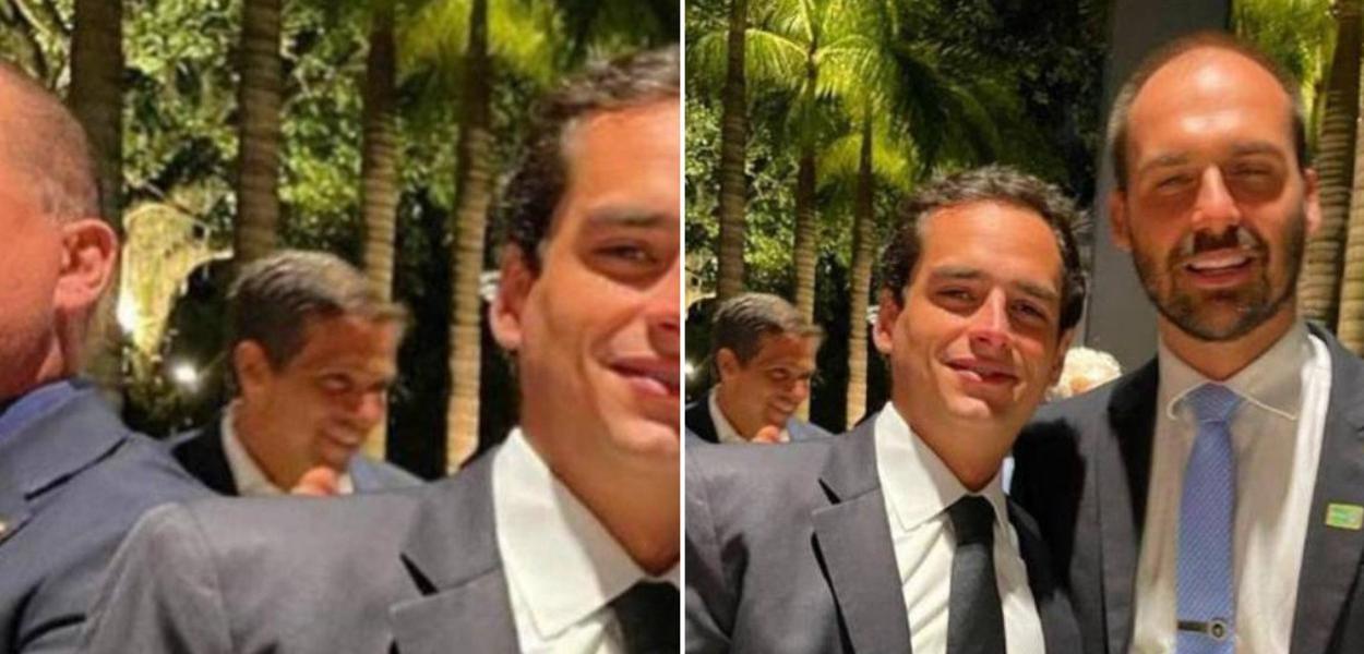 Ton Cinel e Eduardo Bolsonaro