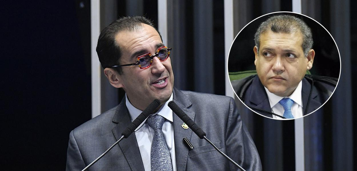 Senador Jorge Kajuru e o ministro do STF Kassio Nunes Marques