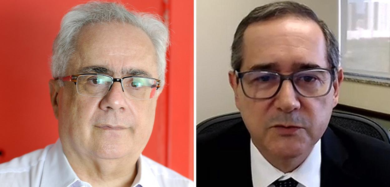 Jornalista Luis Nassif e o presidente eleito do TRF4, Ricardo Teixeira do Vale Pereira