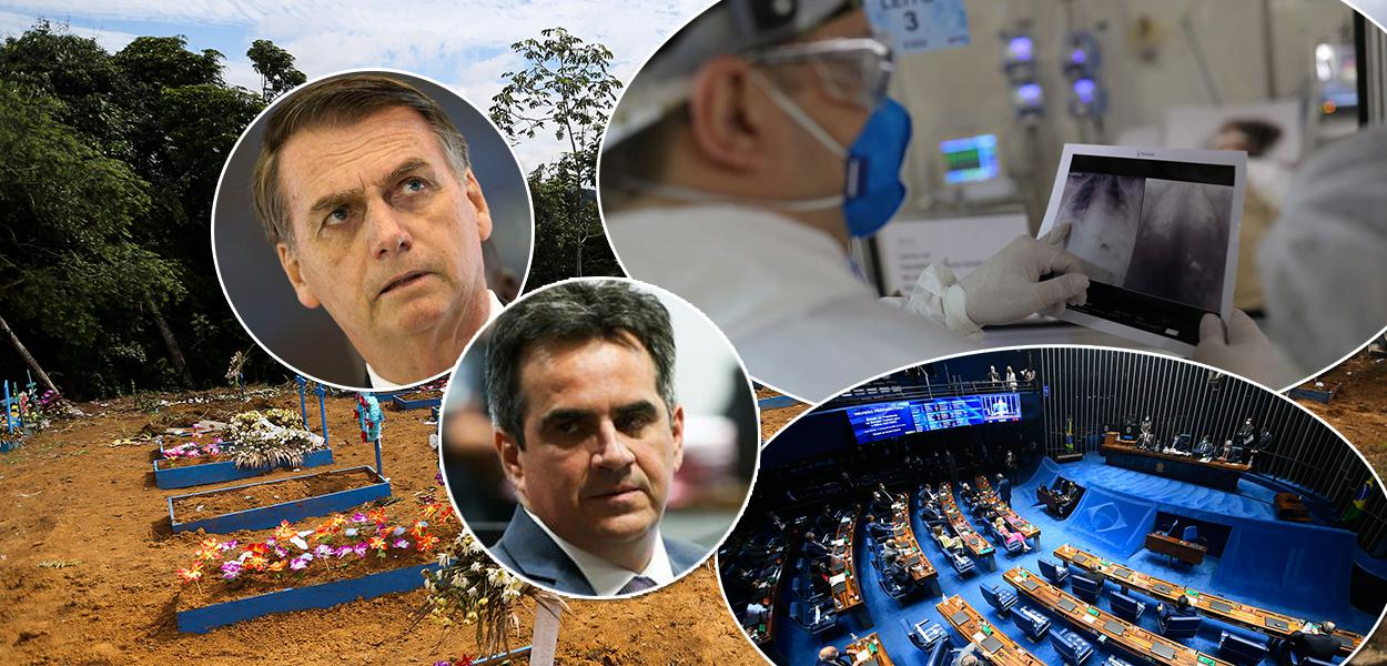 Jair Bolsonaro e o presidente nacional do PP, senador Ciro Nogueira (PI)