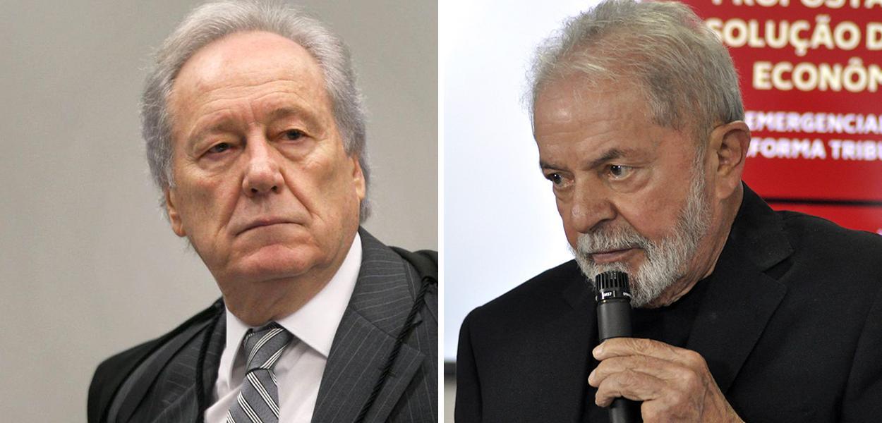 O ministro do STF Ricardo Lewandowski e o ex-presidente Lula